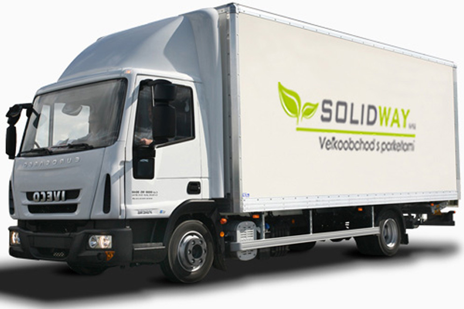 Firemné auto Solidway_veľkoobchod s parketami